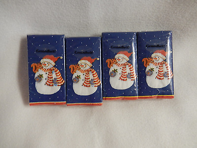 Gesundheit Snowman Paper Pocket Tissue-New (I Pack Only)