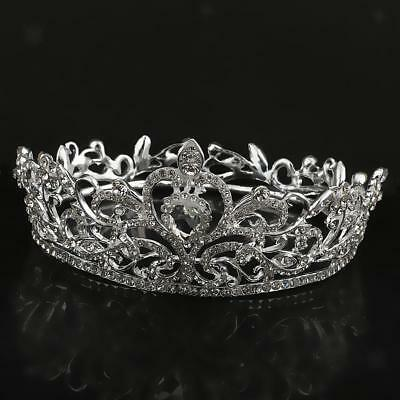 Wedding Bridal Tiara Rhinestone Crystal Flower Crown Pageant Prom Headband