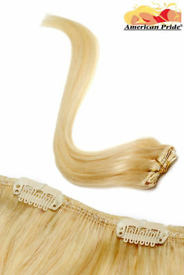 "American Pride Single Weft Clip in Hair (6clips/20g) 18"" Blondie Blonde (22)"