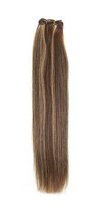 Euro Silky Weave | Human Hair Extensions | 18 inch | Colour Brown / Bronze Blond