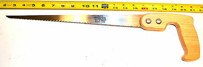 "NOS Stanley USA 14"" blade Carpenters  Compass  SAW 19"" OAL WOOD HANDLE #15-114"