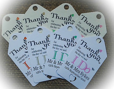 Personalised Wedding Gift/Favour Vintage Luggage Tags/Labels -Thank You TG060