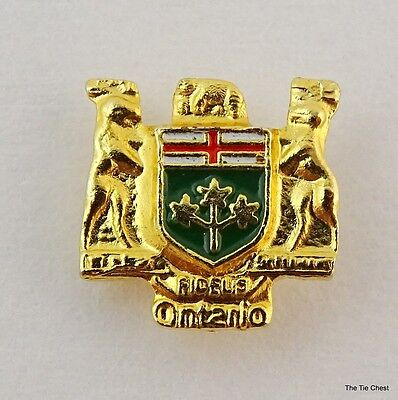 Ontario Coat of Arms Small Lapel Pin Canada