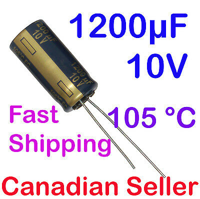5pcs 3300uF 10V 12.5x25mm 105°C Nippon LXZ Very low impedance For PC LCD LED PSU