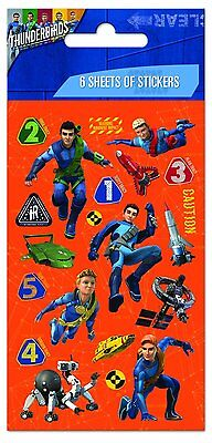 12 x Paper Projects Party-6 Sheets  Re-usable THUNDERBIRDS Fun Sticker