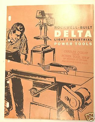 ROCKWELL BUILT DELTA LIGHT INDUSTRIAL POWER TOOLS CATALOG 1962 A Machinery  #RR2