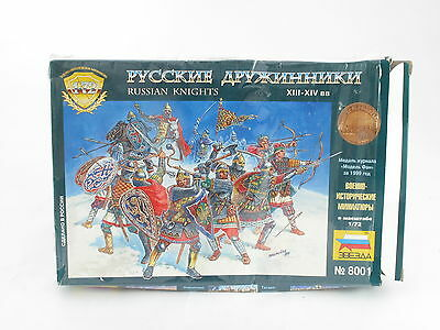 Zvezda Russian Knights 8001 42 Plastic Figures 1:72 New On Sprung