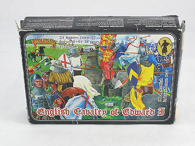 English cavalry Edward I 24 Strelets Plastic Figures 1:72 New On Sprung V2