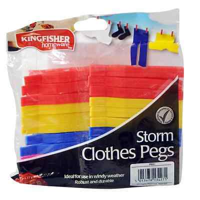 New 24 Pack Large Grip Storm Clothes Plastic Pegs