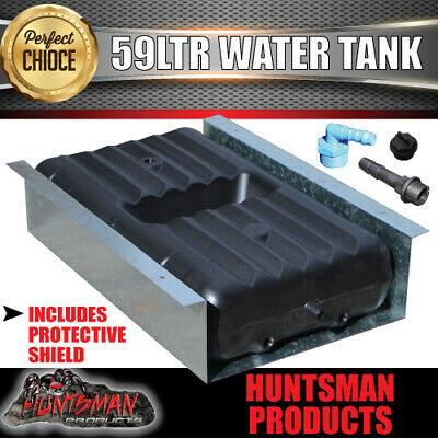 Caravan, Camper Trailer Water Tank. 59 Litre Underbody With Protection Shield