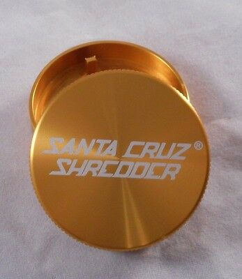 "Small 1.6"" Gold 2 Piece SANTA CRUZ SHREDDER Grinder"