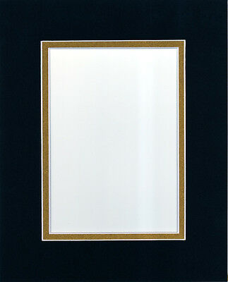 pack of 10 16x20 blackgold picture double mat for 11x14 photo backing