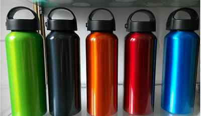 500ml Aluminum Alloy Cycling Outdoor Sports Water Bottle With Clip Wide Mouth