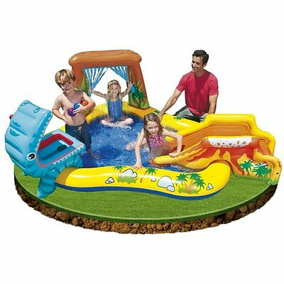 Kids Lounge Pool Swim Center Large Inflatable Swimming Childs Water Fun Yard NEW