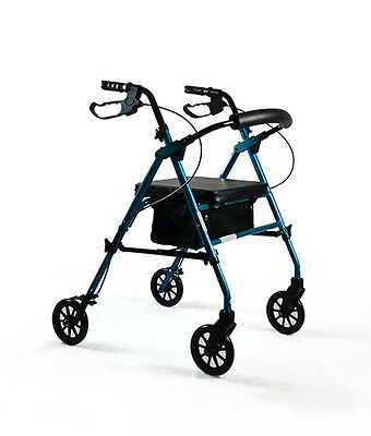 Deluxe Seat Walker with Adjustable Height – Blue *Brand New*