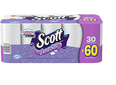 Scott Extra Soft, Bathroom Tissue Double Rolls, 264 Sheets 30 Rolls Toilet Paper