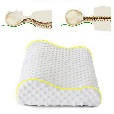 Soft Memory Foam Contour Cervical Neck Sleep Health Care Bed Pillow Removable