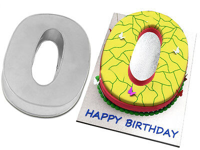Small Number Zero 0 Birthday Cake Pan Baking Tin Mold 10x 8 By