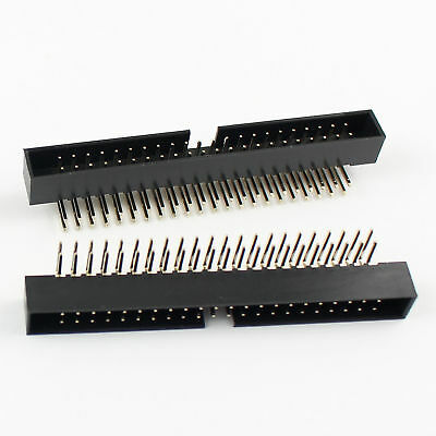10Pcs 2mm 2x22 Pin 44 Pin Right Angle Male Shrouded Box Header IDC Connector