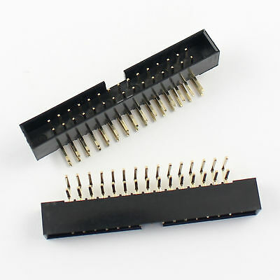 10Pcs 2mm 2x15 Pin 30 Pin Right Angle Male Shrouded Box Header IDC Connector