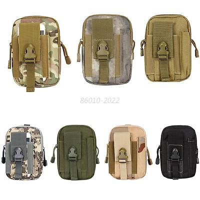 Man Camo Tactical Molle Waist Pack Fanny Phone Pouch Belt Bag Camping Hiking Bag