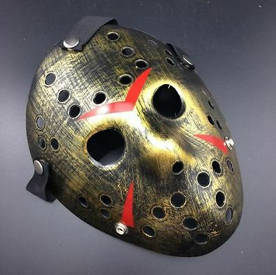 Jason Voorhees Friday the 13th Horror Movie Hockey Mask Halloween Scary Mask