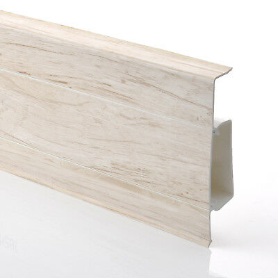 75mm PVC MOUNTAIN MAPLE 2.5m SKIRTING BOARD & ACCESSORIES floor wall gap cover