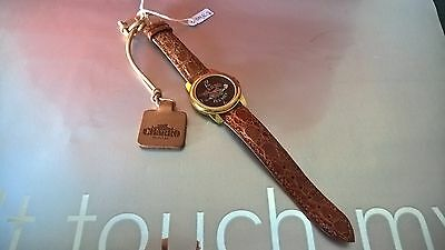 Om14-52 Swiss Made Orologio Rosa El Charro Vintage Uomo Donna Coccodrillo Watch