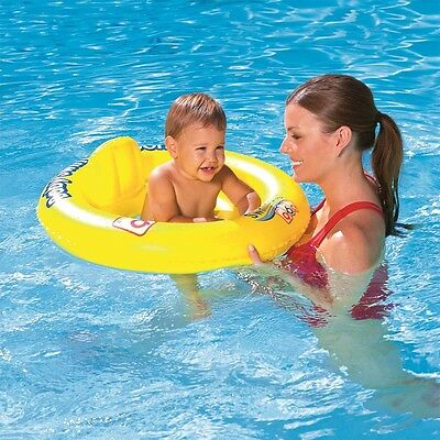 Inflatable Baby Toddler Pool Seat Swim Ring   Bestway Infant Swim Safe 0-2 Years