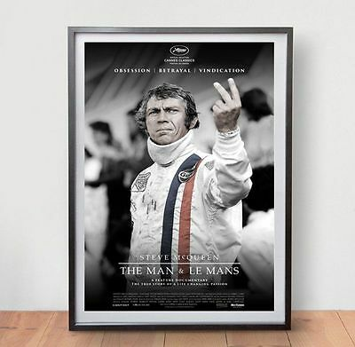 The Man & Le Mans Movie Poster Film Vintage Art Retro Print Steve McQueen