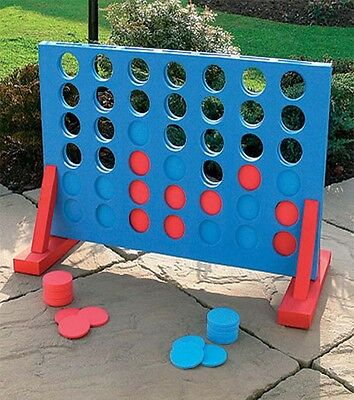 Giant 4 In A Row Game Garden Outdoor Party Family Fun Kids Adult Xmas Gift