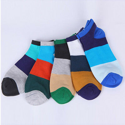 5 Pairs Fashion Mens Sports Socks Lot Crew Ankle Low Cut Casual Cotton Sock