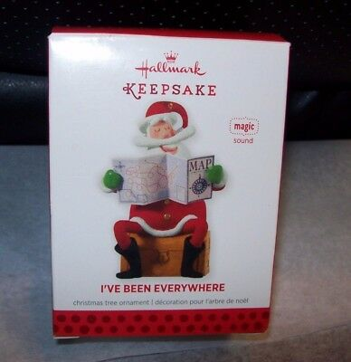 Hallmark  2013 Christmas Tree Ornaments I've Been Everywhere New In Box