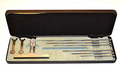 NOS MOORE & WRIGHT 894M/150 0-150mm METRIC MICROMETER DEPTH GAGE 6 Rods EB5G.2A