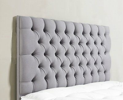 Stylish Chennile Fabric ,Colchester Daimonte/Buttons, Headboard  26'' Height