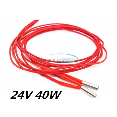 2PCS Reprap 24V 40W Ceramic Cartridge Wire Heater Arduino 3D Print Prusa Mendel
