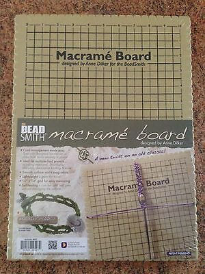 "Beadsmith Large Macrame Board 10"" x 14"" Grid shamballa knotting jewellery craft"