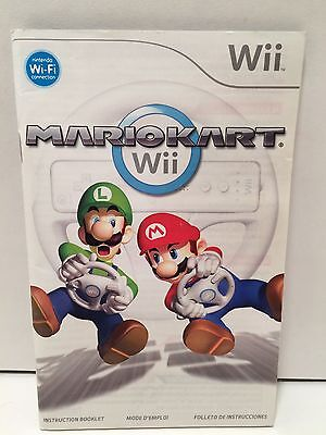 Mario Kart Wii - Manual Instruction Booklet Only