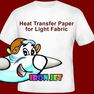 "*Inkjet heat transfer iron on paper for light color fabric:8.5""by1​1:""-100sheets"