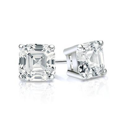 Fine Earrings Jewelry & Watches 3.2 Ct Brilliant Round Cut Screw Back Earring Studs Real Solid 14k White Gold