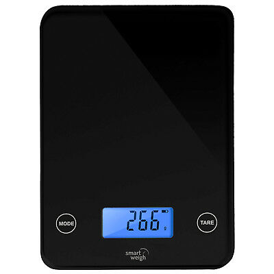 Smart Weigh 11lbs x 0.05oz Kitchen Digital Food Scale 5-Unit Modes Black