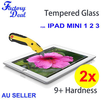 2*Tempered Glass Screen Protector cover Guard For Apple iPad mini 1 2 3