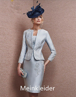 Elegant Free Jacket Lace Mother Gowns Knee-Length Mother of Bride Dress Suits