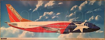 Southwest Airlines B737 Lone Star One livery poster