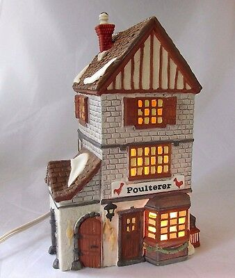 Dept 56 POULTERER Dickens Village Series Heritage Collection Lighted 59269
