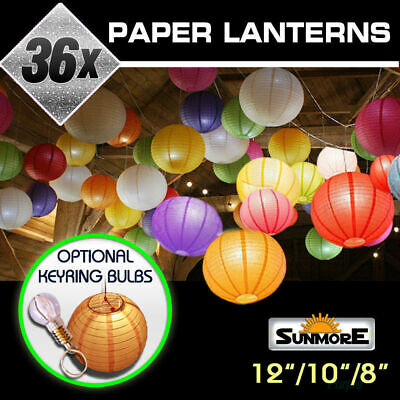 36x Paper Lanterns Party Chinese Wedding Home Decoration BULK ACCENTS
