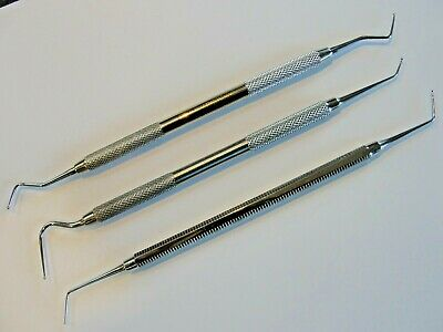 Dycal Placer  x 3 top quality steel instruments for dentist