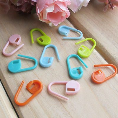 30pcs Colorful Knitting Crochet Locking Stitch Markers Holder Needle Clip Craft