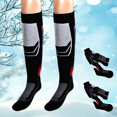 Men Long Thick Thermal Snow Ski Hiking Outdoor Winter Sport Socks Snowboard Warm