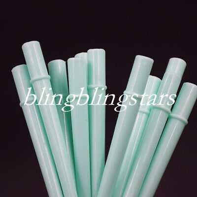 "25 Pcs/Pack Dentist Dental Orifice Surgical Aspirator Suction Tips 1/4"" Sky Blue"